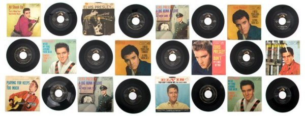 6: A Collection of Twenty-Nine 1950s Elvis Presley 45rp