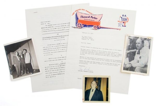 9: A Group of Items Pertaining to Colonel Tom Parker,
