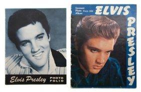 12: A Group of Two Elvis Presley Souvenir Tour Photo Fo