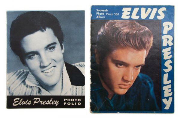12: A Group of Two Elvis Presley Souvenir Tour Photo Fo