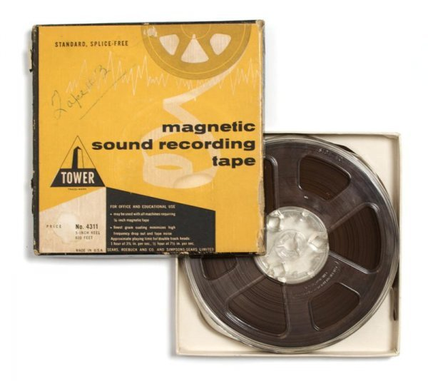 13: An Original 5-inch Reel-to-Reel Sound Recording of