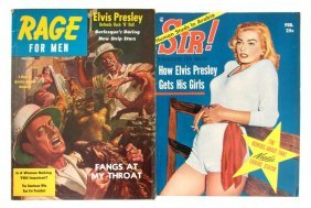 15: A Pair of 1957 Men's Magazines with Articles by Elv