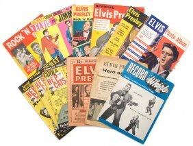 A Collection Of Ten 1950s Elvis Presley Rock 'n' Ro