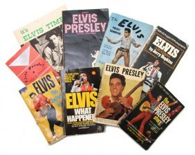 18: A Group of Eight Books Pertaining to Elvis Presley,