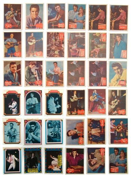 19: A Collection of Thirty-Six Elvis Presley Trading Ca
