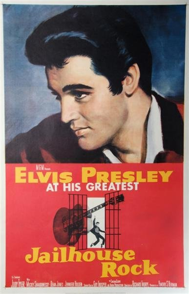 58A: A Reproduction 1957 Jailhouse Rock Poster,
