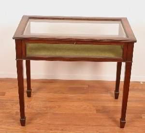 A Mahogany Vitrine Table,