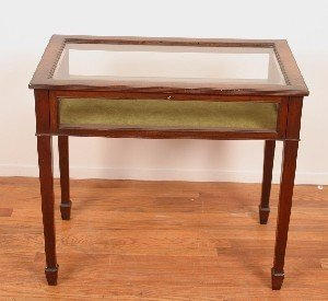 2: A Mahogany Vitrine Table,