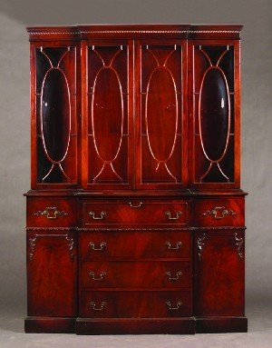 19: A Georgian Style Mahogany Breakfront Secretary Book