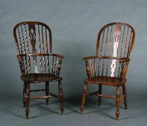 A Pair of Windsor Chairs,
