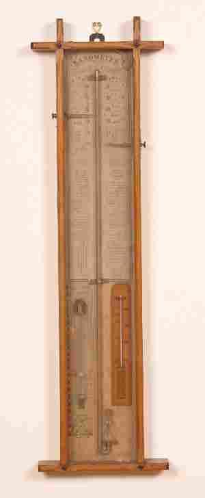 An Admiral Fitzroy Barometer, Height 40 x width 11