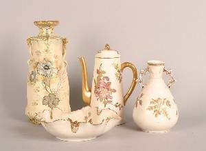 220: A Group of Porcelain Articles, Height of large vas