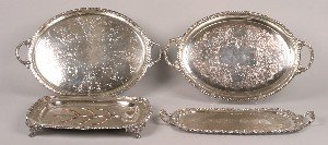 331: A Collection of Four Silver Plate Trays,