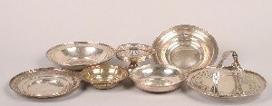 332: A Collection of Silver Bowls and Trays,