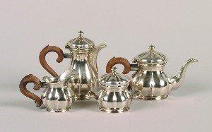 334: A Diminutive Silver Coffee and Tea Service,