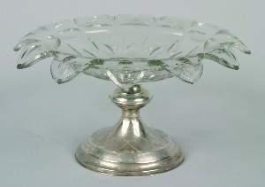 An English Pedestal Silver Compote,