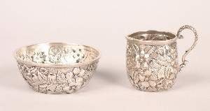 A Miniature American Silver Pitcher and Basin, Jac