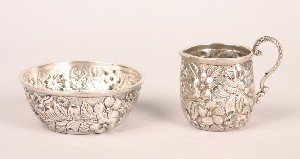 345: A Miniature American Silver Pitcher and Basin, Jac