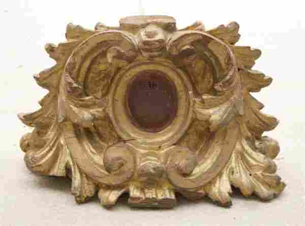 27: A Group of Two Carved Wall Brackets, Height of tall