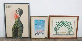 111 A Group of Framed Decorative Articles Height of f