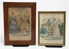 226 A Group of Two Framed Decorative Articles Height