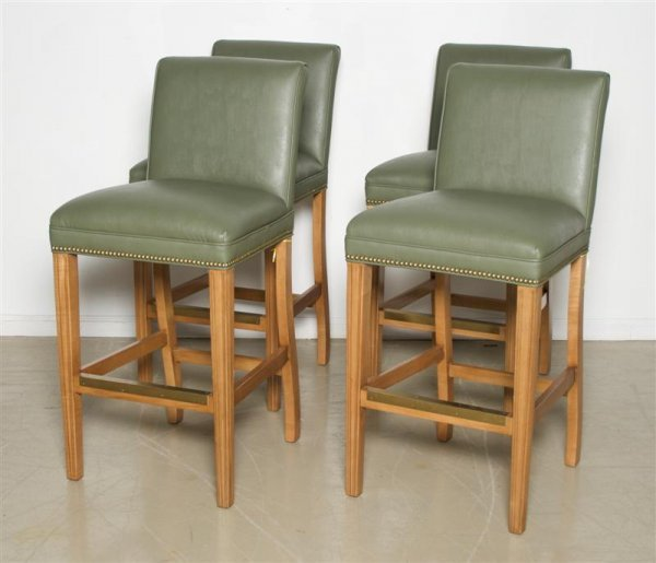 569: A Set of Four Bar Stools, Height 42 1/4 inches.