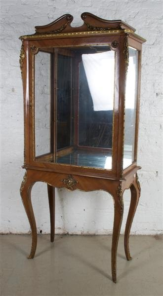 573: A Louis XVI Style Vitrine Cabinet, Height 73 1/2 i