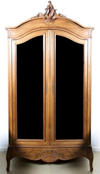 578: A Louis XV Style Provincial Armoire, Height 97 x w