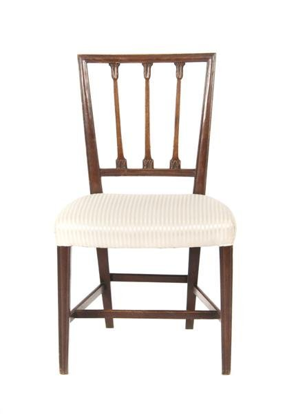 580: An English Mahogany Side Chair, Height 35 1/4 inch