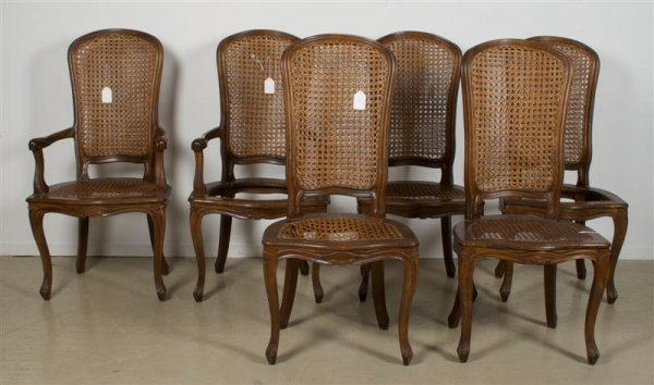 584: A Set of Six French Provincial Chairs, Height 44 i