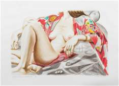 Philip Pearlstein  (American, b. 1924)  Model in Kimono
