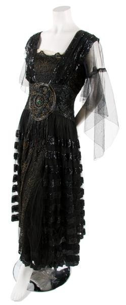 3: A Black Tulle and Sequin Dress,