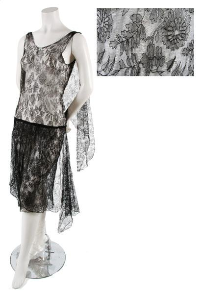 4: A Couture Black Chantilly Lace Dress,
