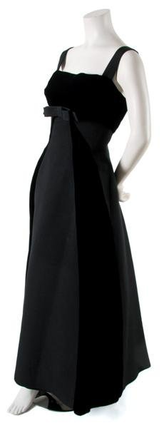 13: A Helena Barbieri Black Silk Faille and Velvet Gown