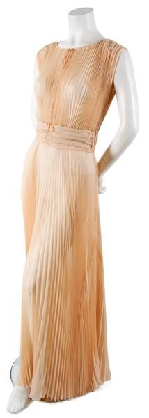 17: A Pleated Silk Evening Gown,