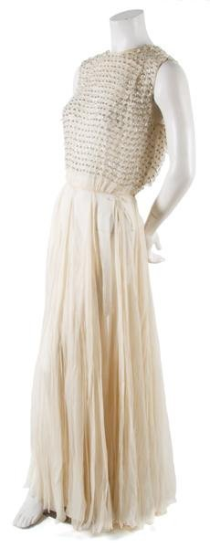 18: A Silk Chiffon and Beaded Evening Gown,