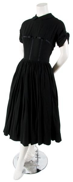 23: A Black Wool Cocktail Dress,