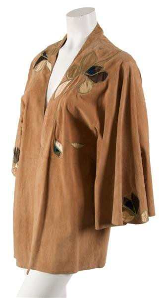 98: A Roberto Cavalli Light Brown Suede Jacket, Size M.