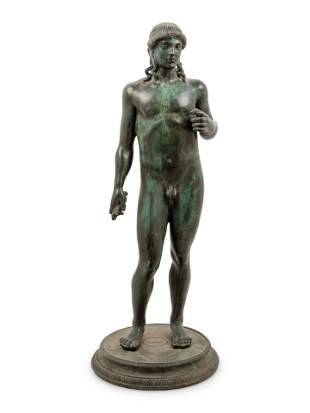 A Continental Bronze Figure After the Antique
