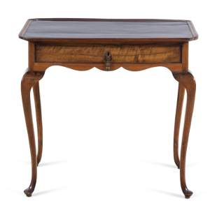 A Queen Anne Mahogany Side Table