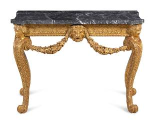 A George II Giltwood Marble-Top Pier Table in the