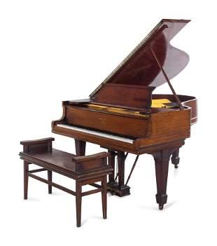 A Steinway & Sons Mahogany Grand Piano