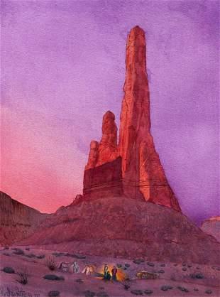 Fritz White (American, 1930-2010) Where Sunrise Comes
