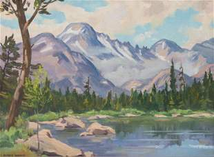 Alfred Wands (American, 1904-1998) Rocky Mountain