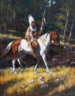 Susan Terpning (American, b. 1953) Blackfoot Chief,