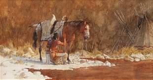 David Halbach (American, b. 1931) Sacred Paint, 1999