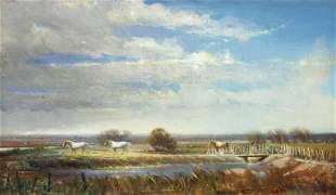 David A. Leffel (American, b. 1931) Wild Horses, 2013
