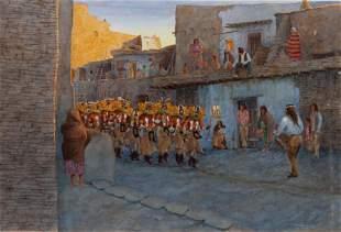 David Halbach (American, b. 1931) Pueblo Dance-Laqan