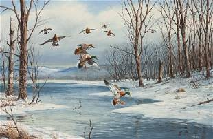 David Maass (American, b. 1929) Ducks Landing