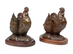 Sandy Scott (American, b. 1943) Pair of Chicken